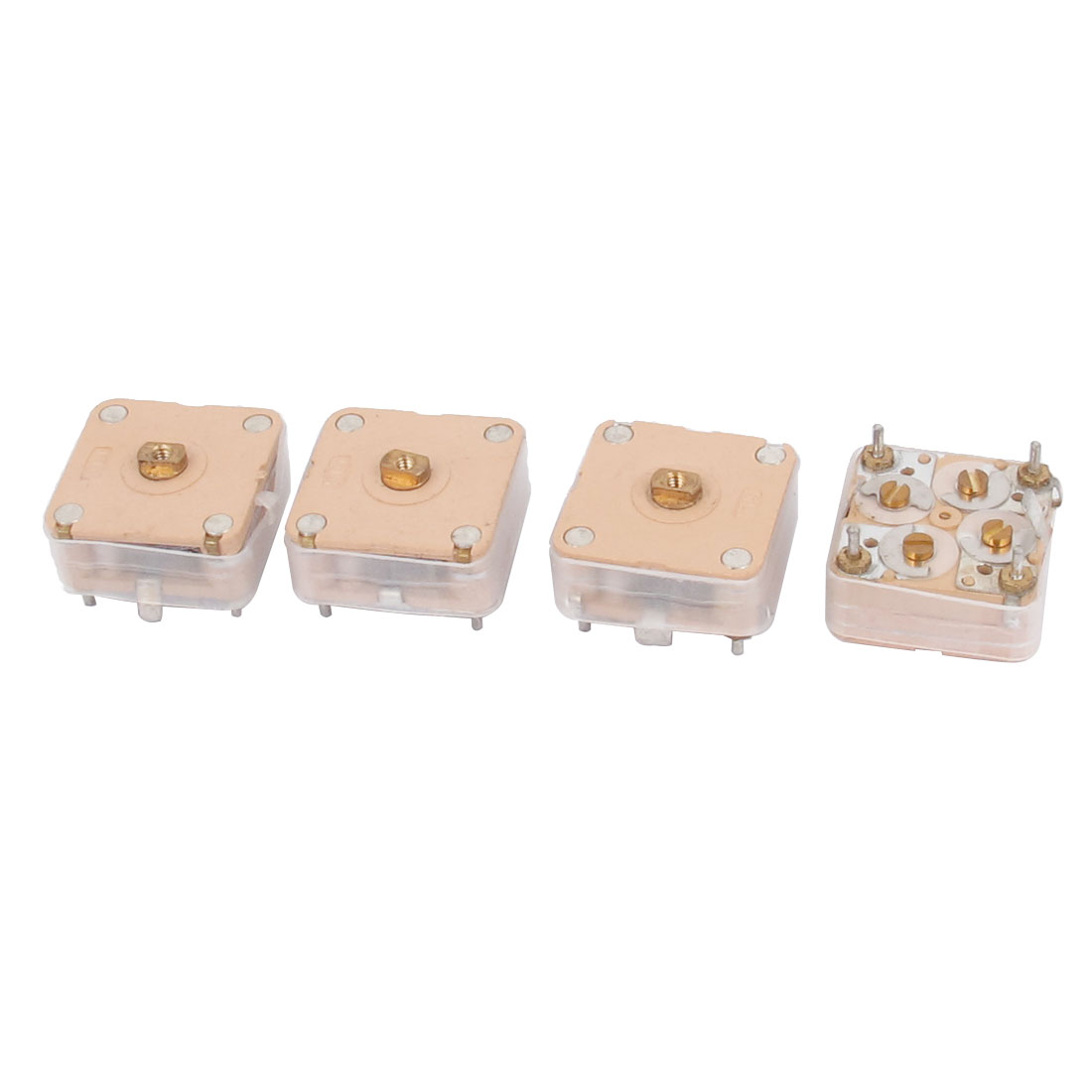 444HF 20pF*2 Capacitance Medium Variodence Adjustable Variable Capacitor 4pcs