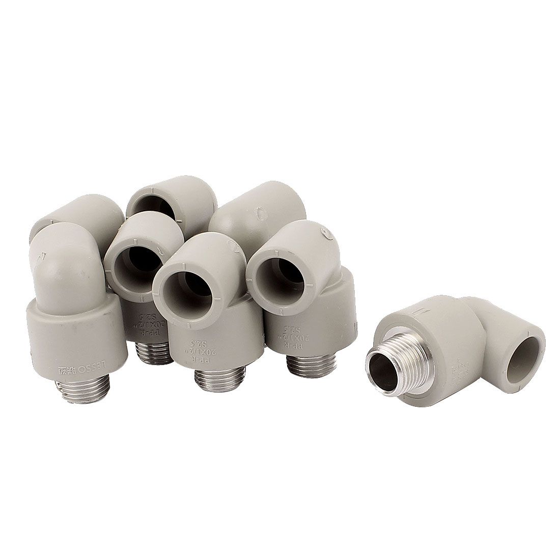 1/2BSP 90 Degree Elbow PPR Pipe Fittings Adapter Connector 8pcs