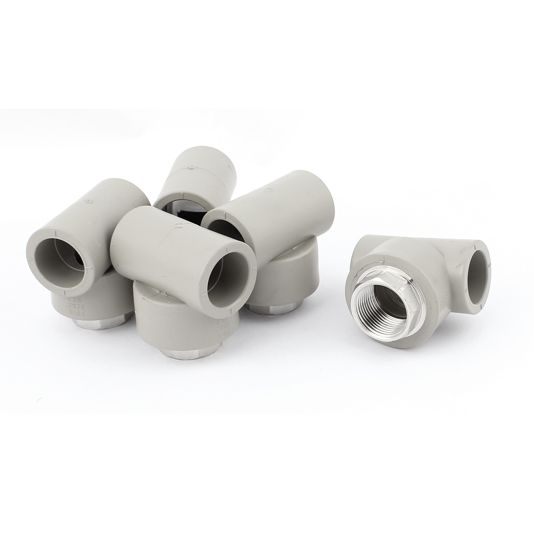 5pcs 1BSP Female Thread T Shaped PPR Pipe Fitting Adapter Connector
