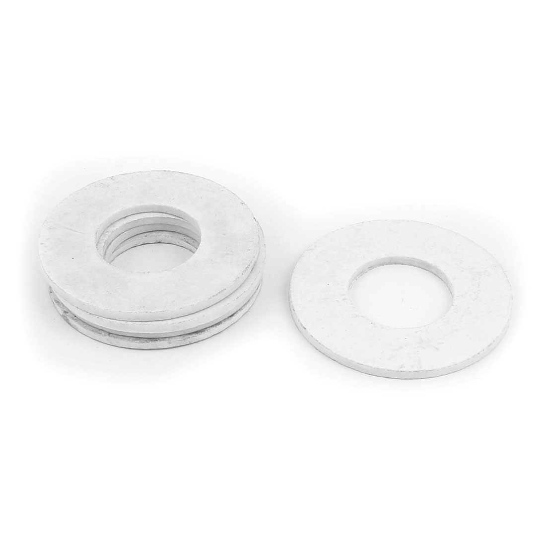 DN25 68x32x3mm PTFE Flange Gasket Pipe Fitting Ferrules White 5pcs