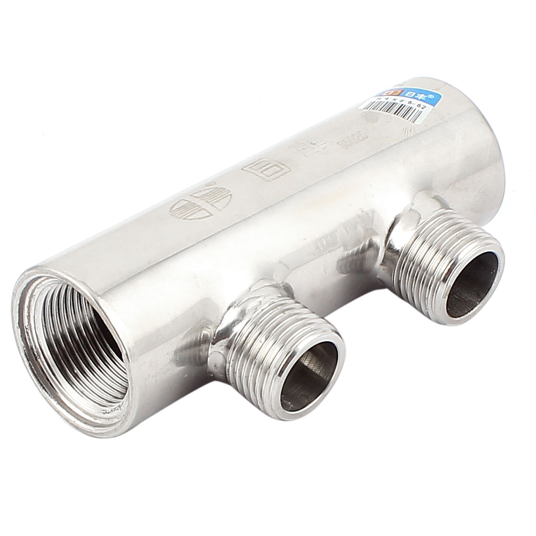 3/4BSP Inlet 1/2BSP Outlet 2 Way Stainless Steel Water Manifold Distributor