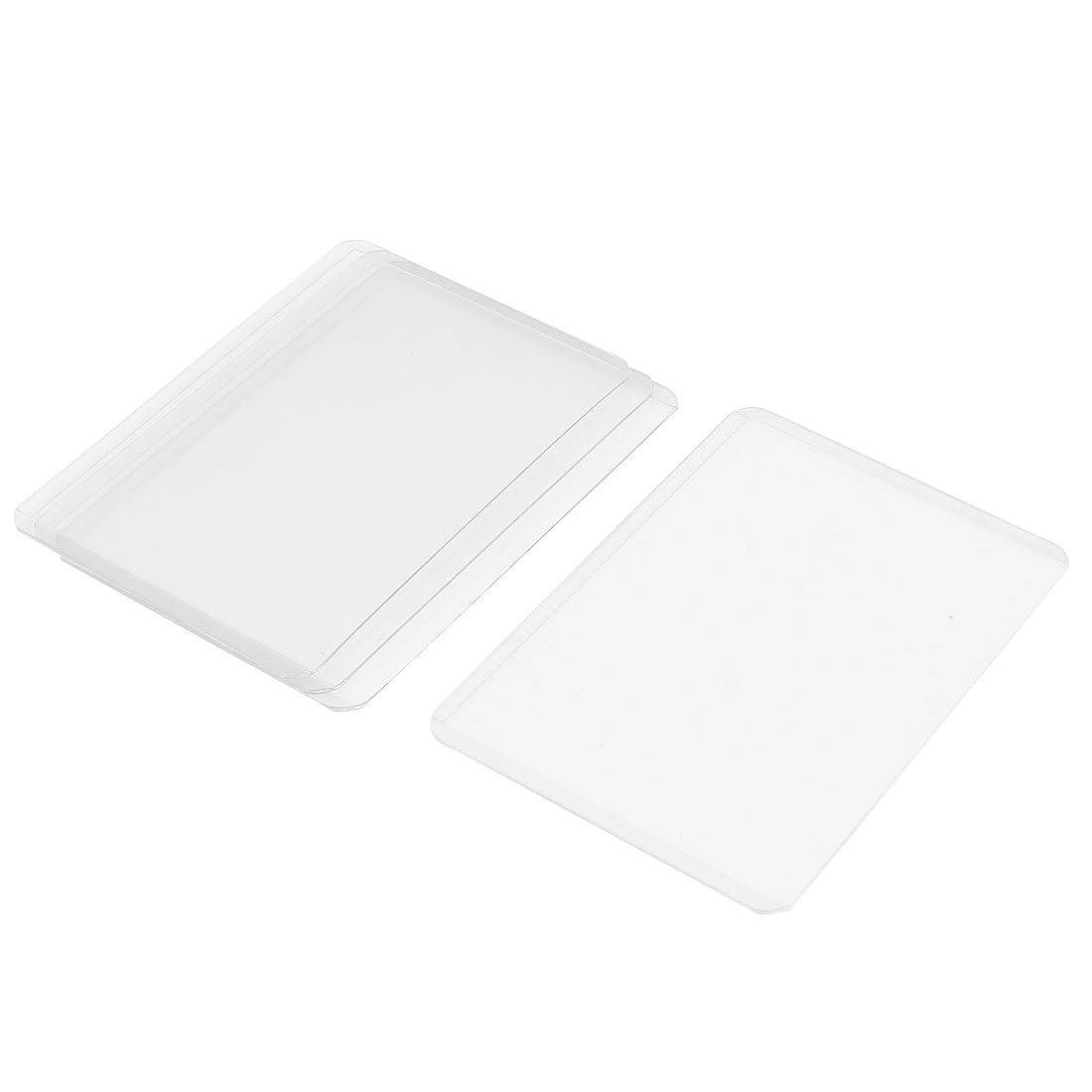 Plastic A7 Name ID Credit Business Card Protector Holder Cover Case Clear 4Pcs