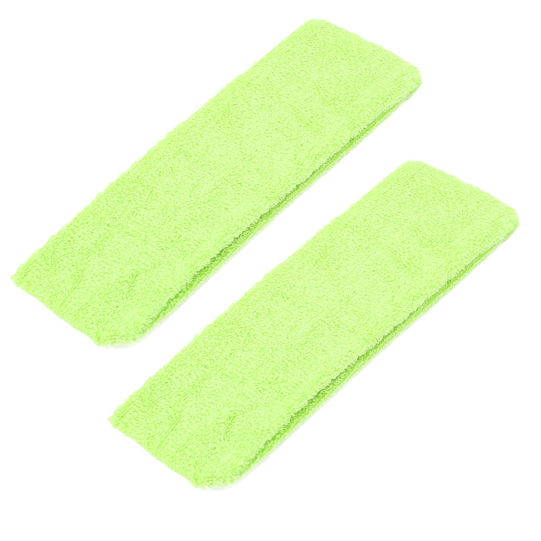 Women Yoga Sports Elastic Sweatband Headband Hair Band Green 2pcs