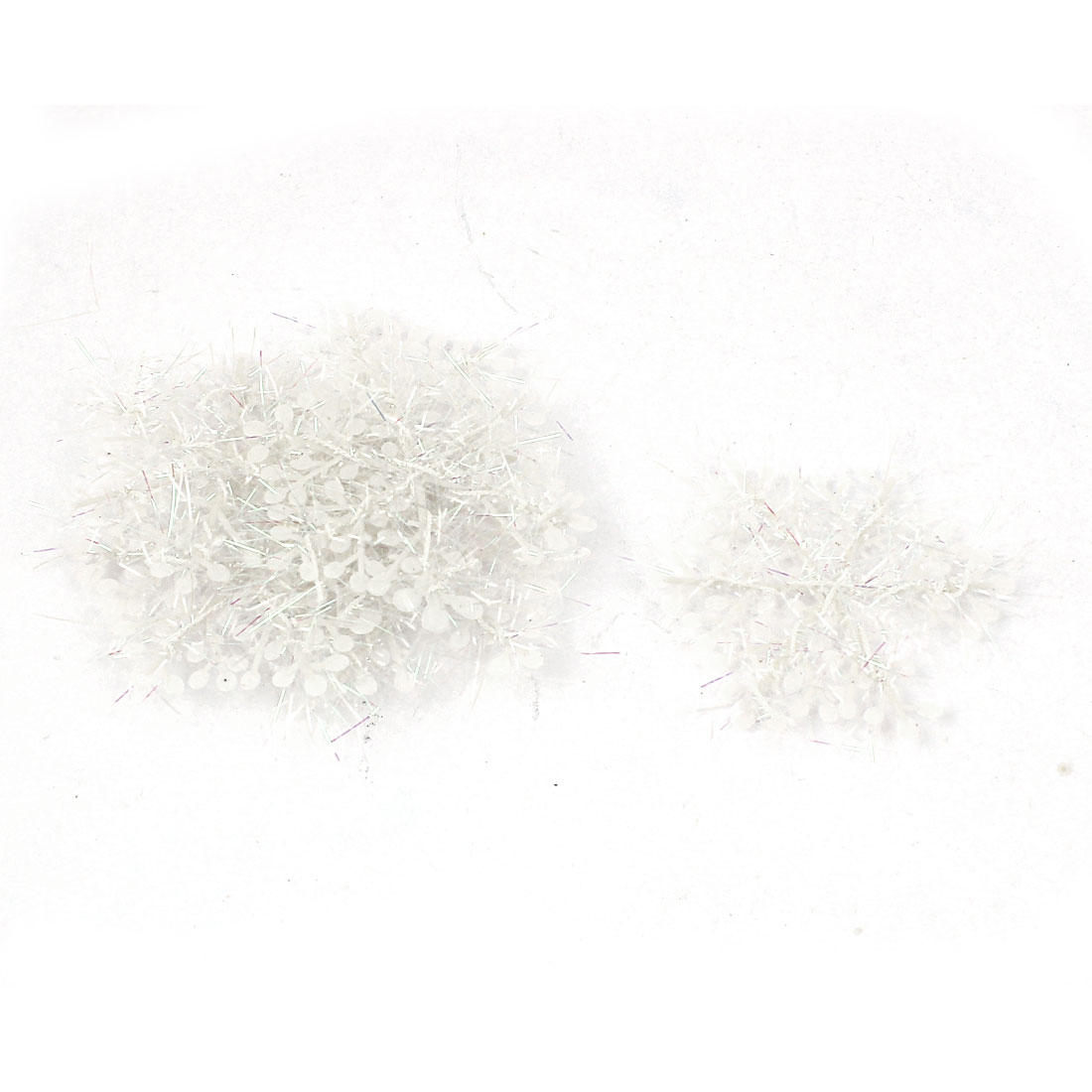 Wall Window Plastic Christmas Snowflake Hanging Ornament White 30pcs