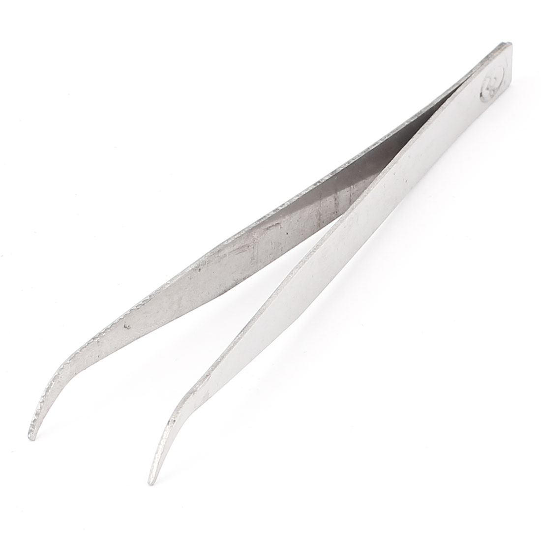 Nonmagnetic Stainless Steel Curved Tip Tweezers Plier Hand Tool