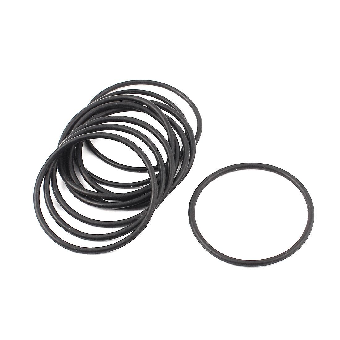 45mm Dia Rubber Oil Seal Sealing O Ring Black 10pcs