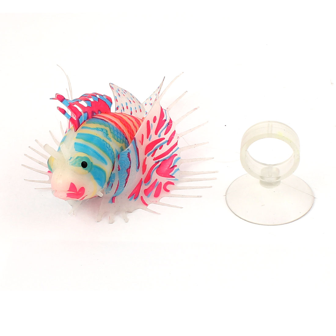 Aquarium Artificial Plastic Fish Ornament Decoration w Suction Cup