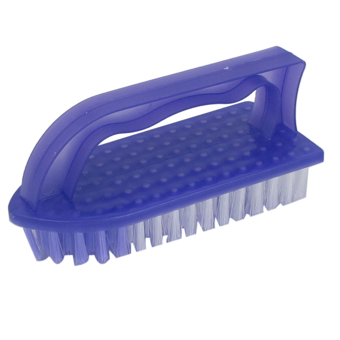 Purple Plastic Shell Clothes Shoes Floor Cleaning Washing Scrubbing Scrub Brush