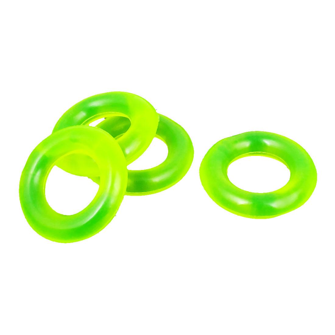 4pcs 35mm x 19mm x 13mm Green Rubber O Ring Washer Plumbing Oil Seal Sealing Gasket