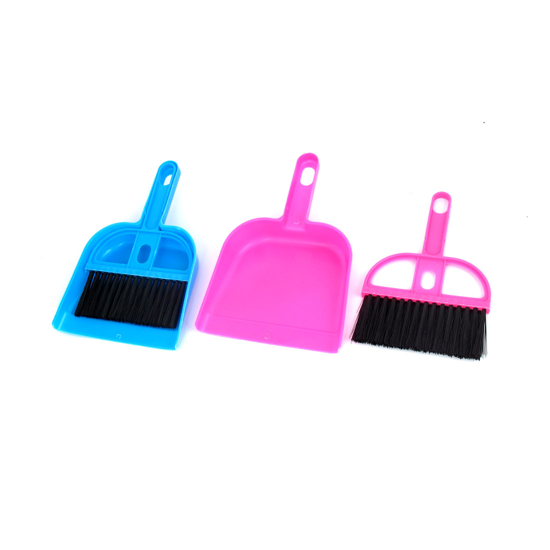 Portable PC Desk Computer Netbook Keyboard Duster Cleaning Cleaner Brush Dustpan Pink Blue 2pcs