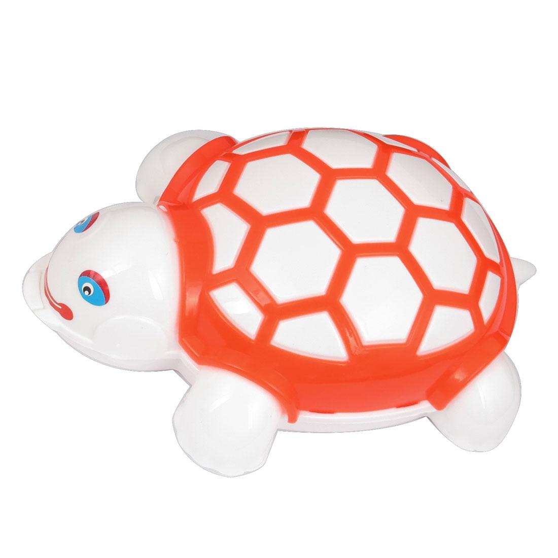 Orange Plastic Housing Tortoise Type Push Dual Rollers Carpet Cleaning Brush Cleaner