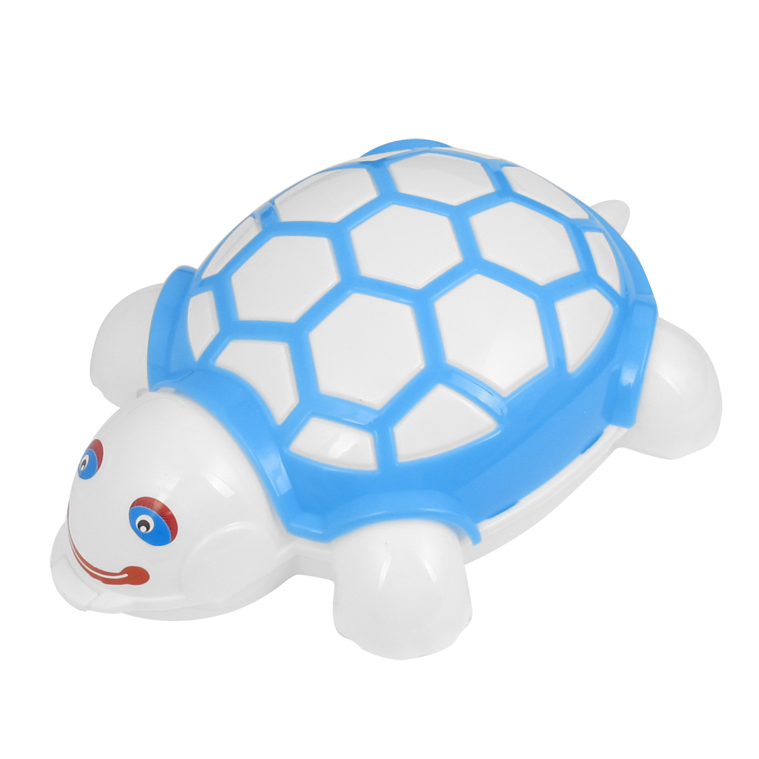 Blue Plastic Tortoise Design Push Double Rollers Carpet Cleaning Brush Cleaner Tool