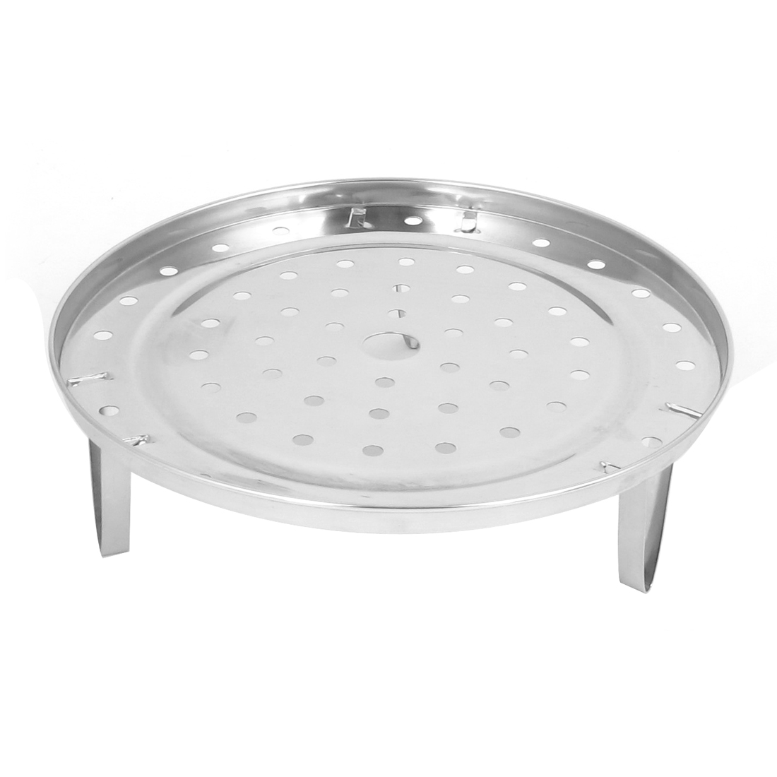 Kitchen 21cm Dia Metal Bread Food Cooking Steaming Steamer Rack Plate w Stand