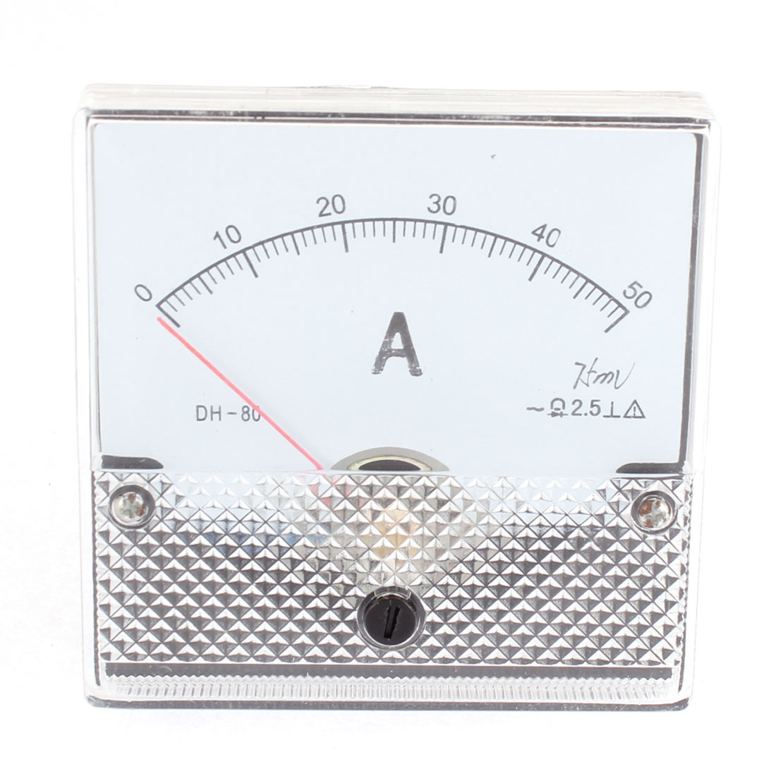 DH-80 DC 0-50A Class 2.5 Accuracy Square Panel Mounting Analog Current Measuring Gauge Ammeter Ampere Meter