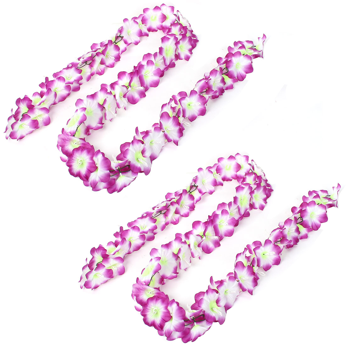 Wedding Home Decor Artificial Fake Hanging Garland Flower String Vine Purple 2Pcs