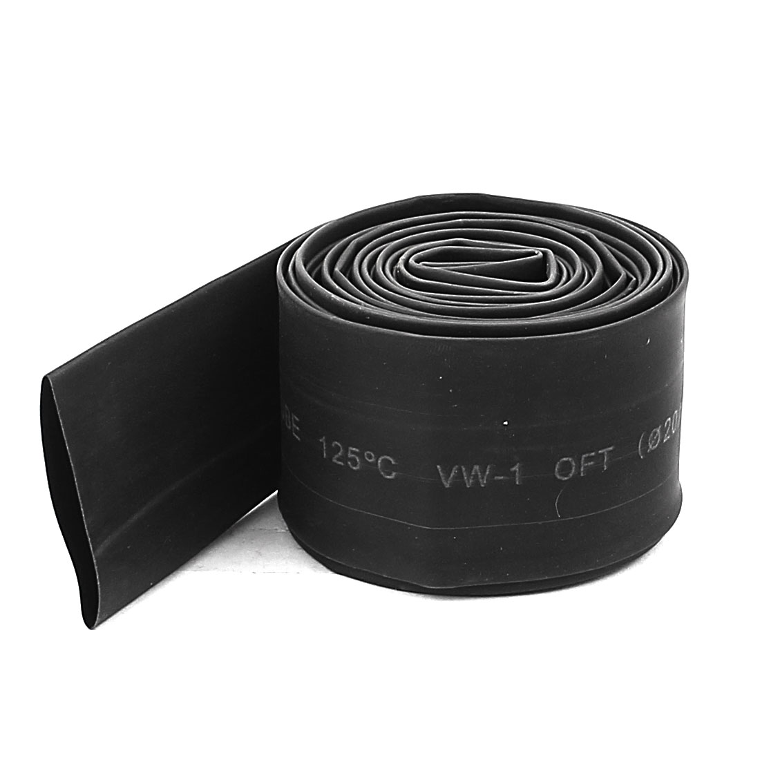 2M Length Electric Wire Cable Heat Shrink Tubing Tube Wrap Sleeve Black