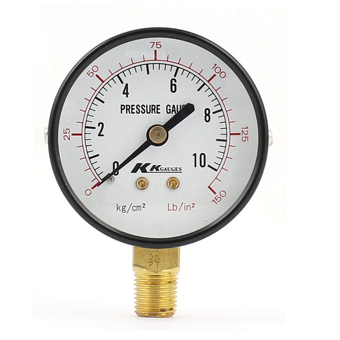13mm 1/4BSP Male Thread Water Air Compressor Pressure Gauge Meter 0-150Lb/in2 0-10kg/cm2