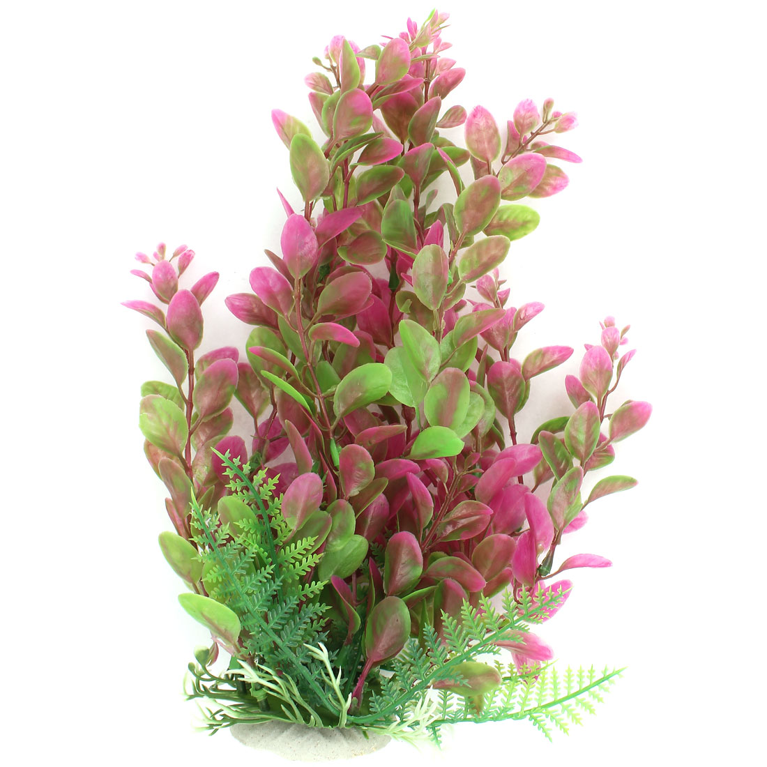 22cm Height Green Fuchsia Aquarium Ornament Plastic Underwater Grass Plant