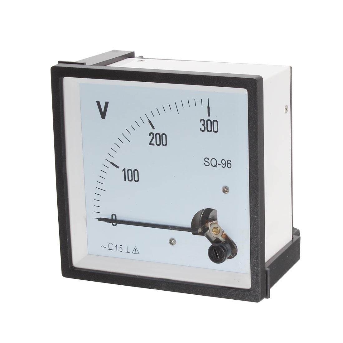 AC 0-300V Square Panel Analog Voltmeter Voltage Meter Gauge