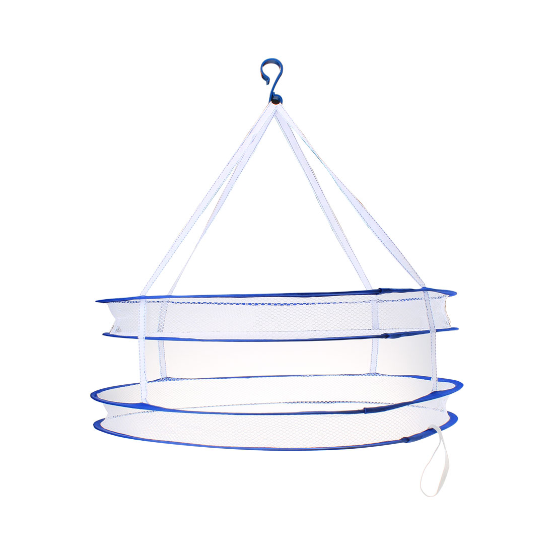 S Hook 2 Layers Drying Rack Folding Hanging Clothes Laundry Dryer Net Basket