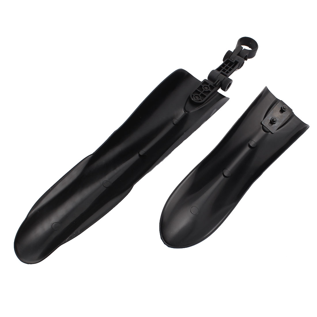Cycling Bike Bicycle Plastic Rear Front Mud Guard Mudguard Fender Set Black