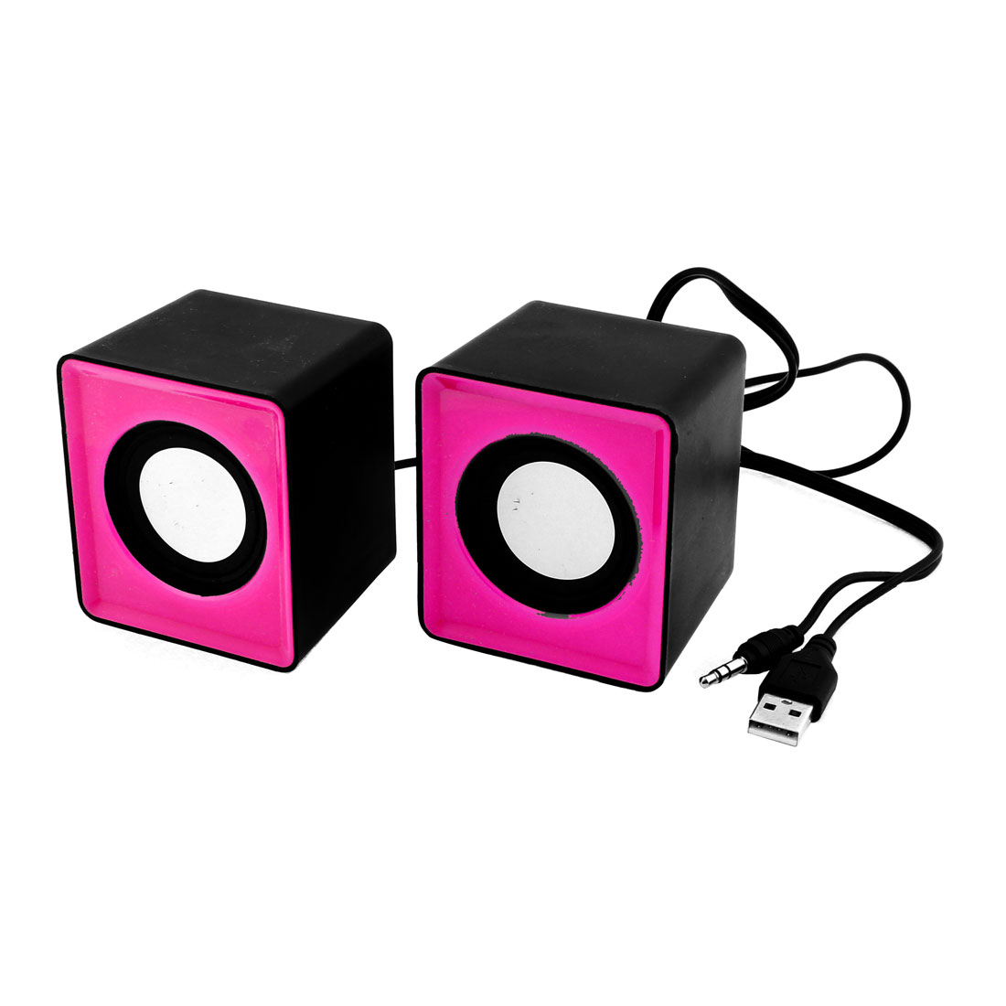 Pair USB Multimedia Mini Speaker 3.5mm Jack for Computer Desktop PC Laptop