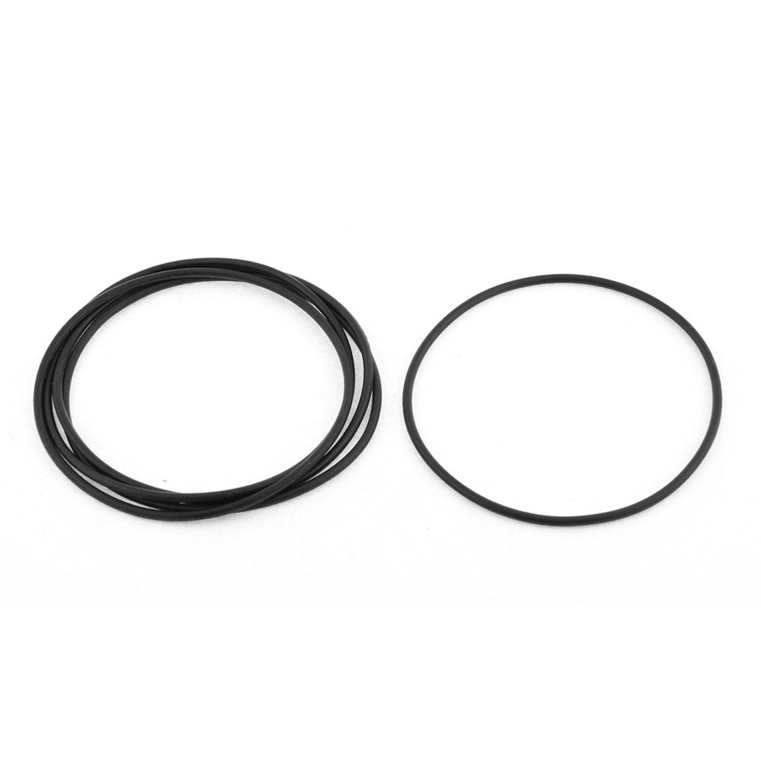 5Pcs 86mm x 90mm x 2mm Rubber O Type Sealing Ring Gasket