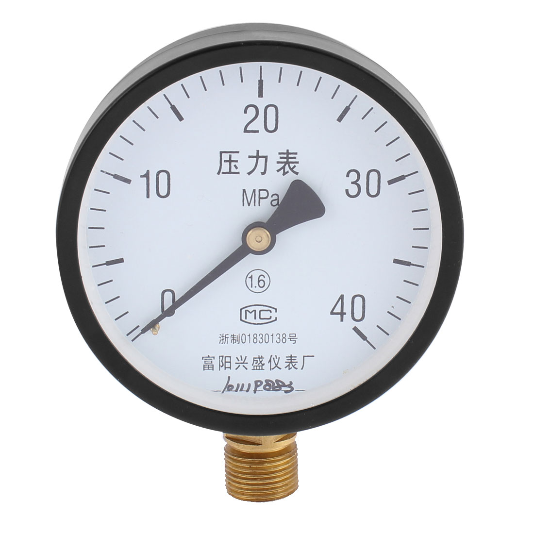 20mm 1/2BSP Male Thread 0-40MPa Mesearing Round Dial Air Compressor Pressure Gauge Meter