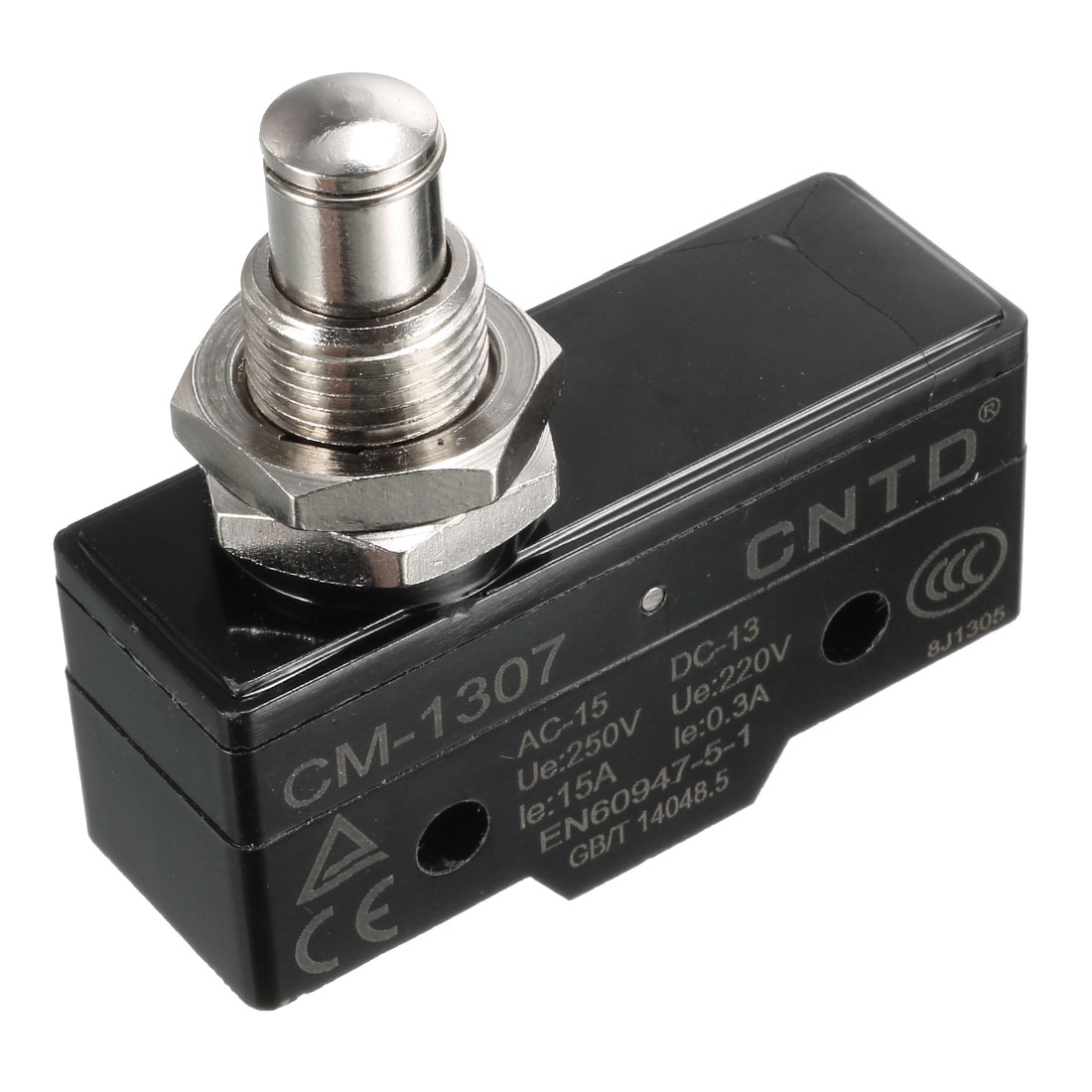 CM-1307 SPDT Momentary 3 Screw Terminals Panel Mounting Roller Plunger Basic Limit Switch Control