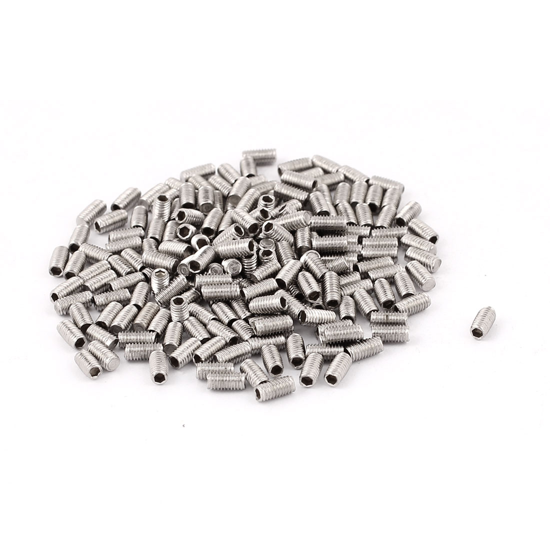 200pcs M3 Thread Stainless Hex Socket Head Set Grub Screws