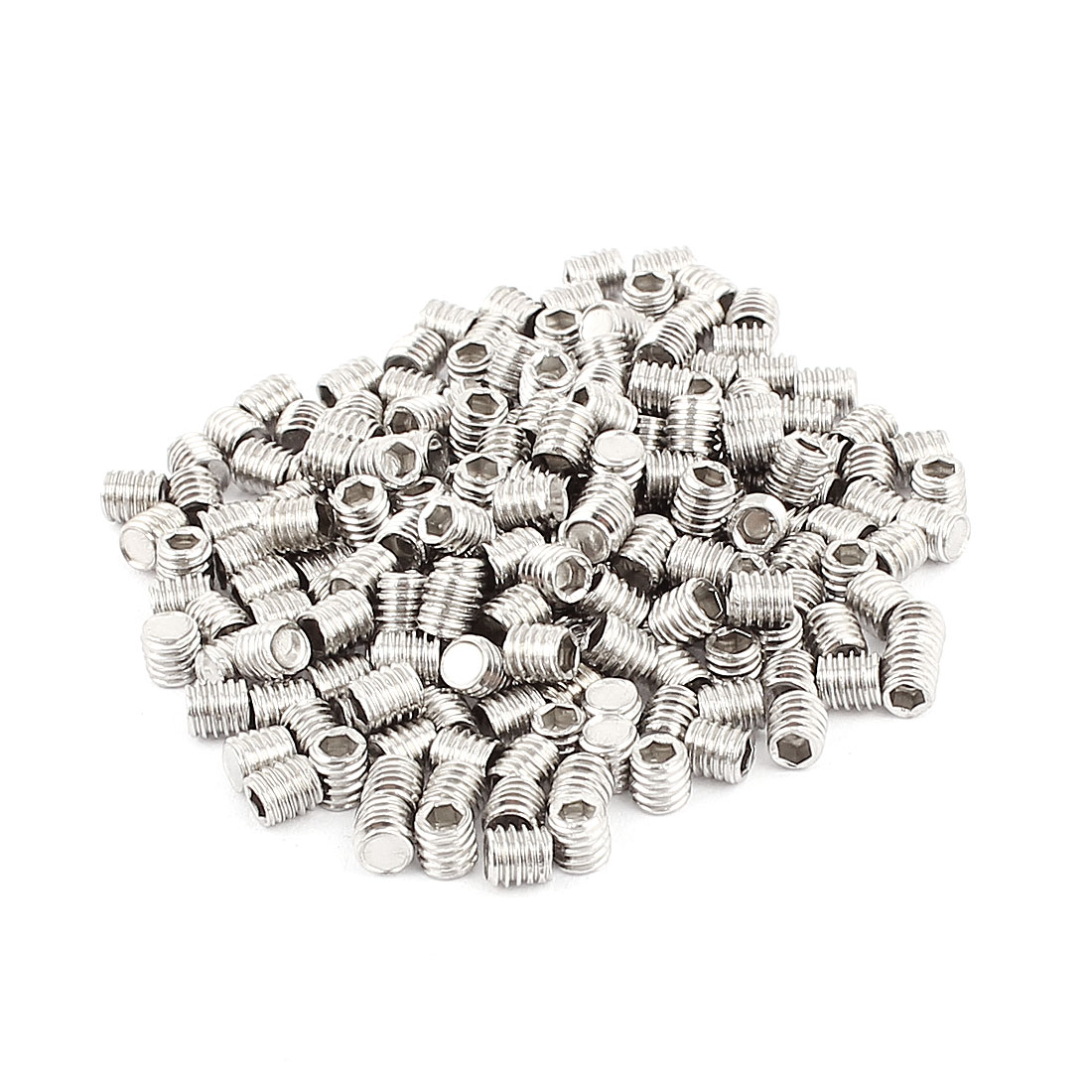 200pcs Stainless Steel M4x4mm Head Hex Socket Set Grub Screws