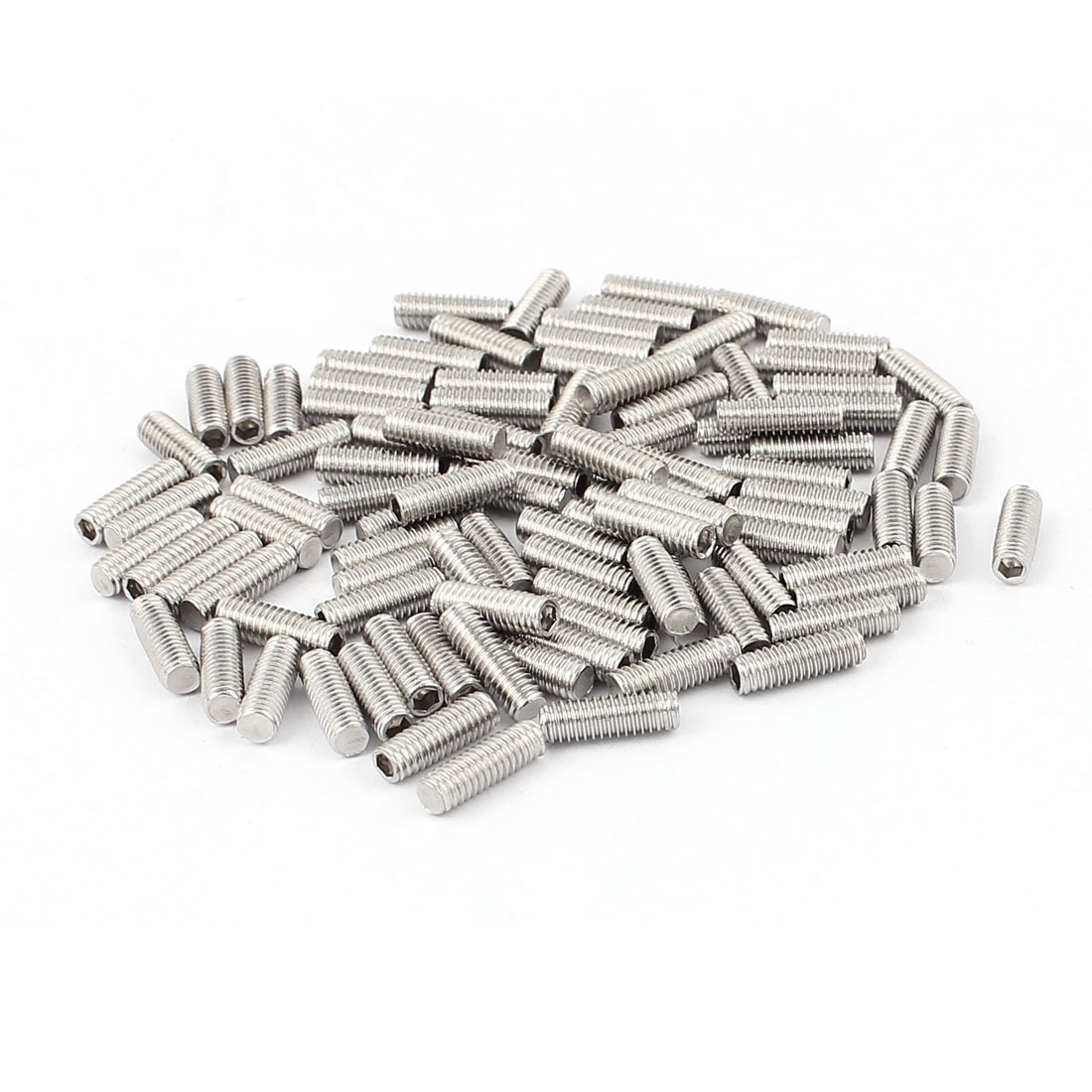 100pcs Stainless Steel M4x12mm Flat Point Hex Socket Grub Screws