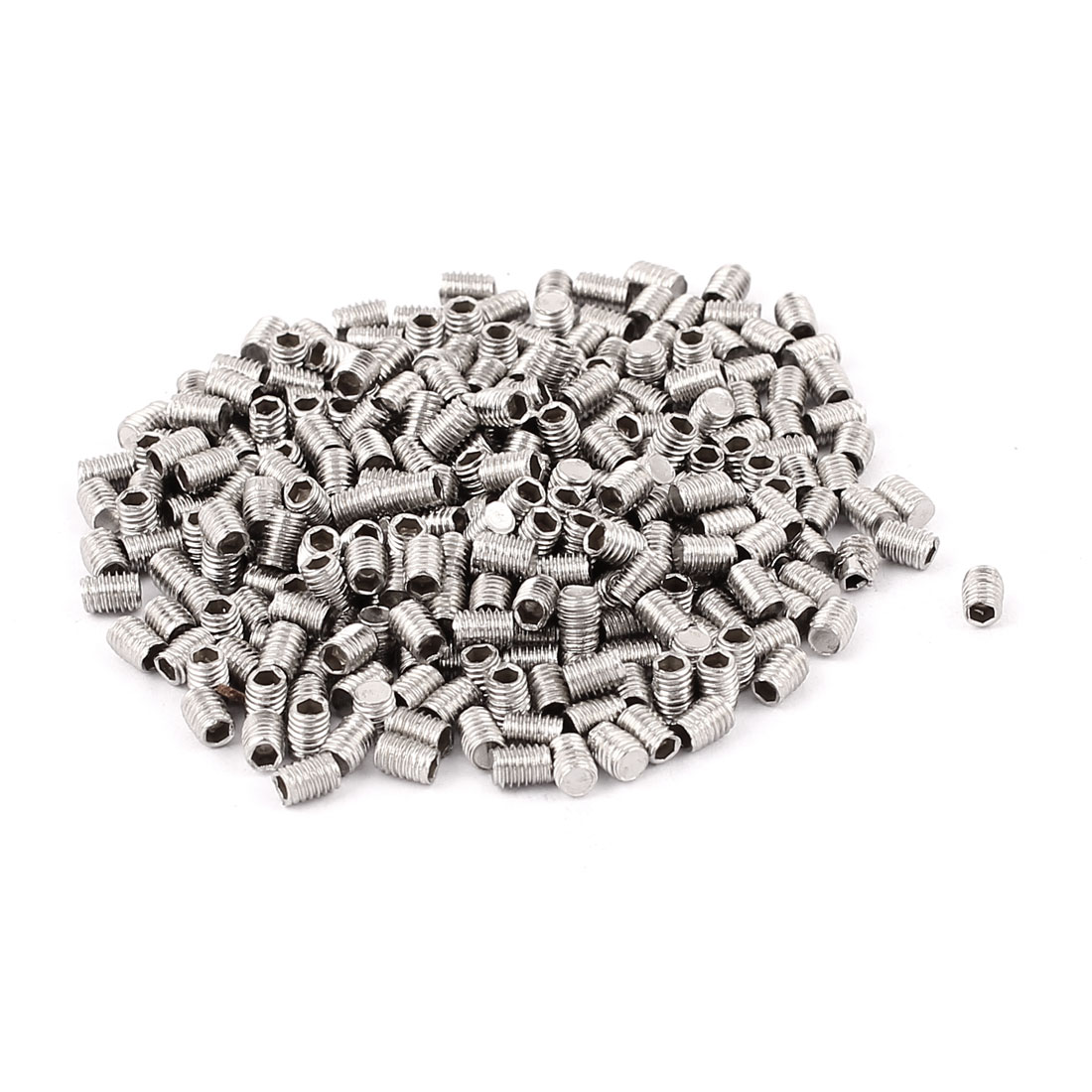 Bolt Base Stainless Steel 3mm Thread Flat End Hex Socket Grub Screws 300pcs