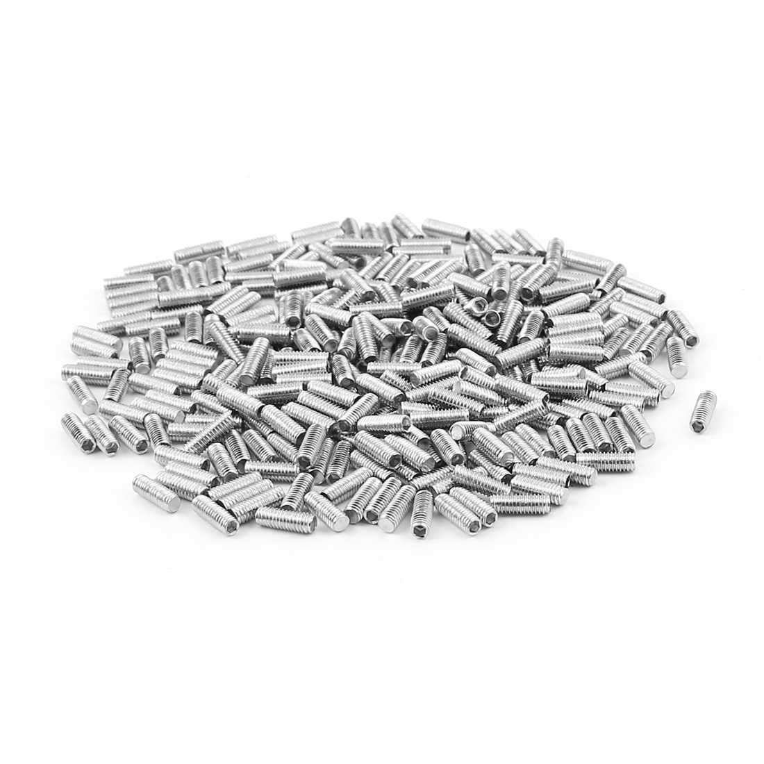 300pcs Stainless Steel M3x8mm Hexagonal Drive Flat Point Set Grub Screws