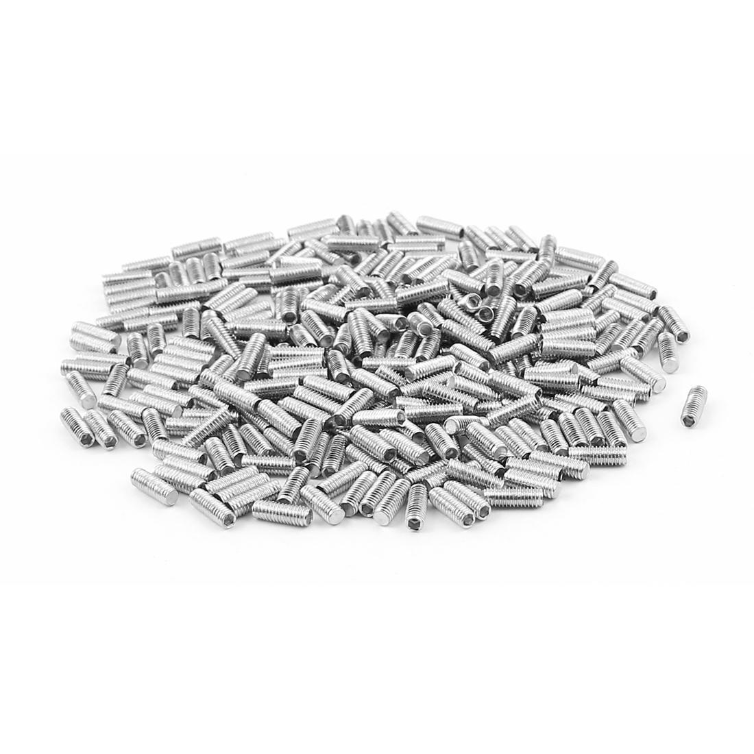 300pcs Stainless Steel M3x8mm Hexagonal Drive Flat Point Set Grub Screws