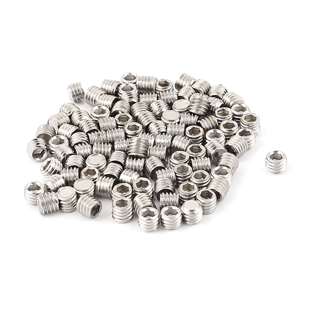 100pcs Stainless Steel M5 x 4mm Hexagon Socket Head Set Grub Screws