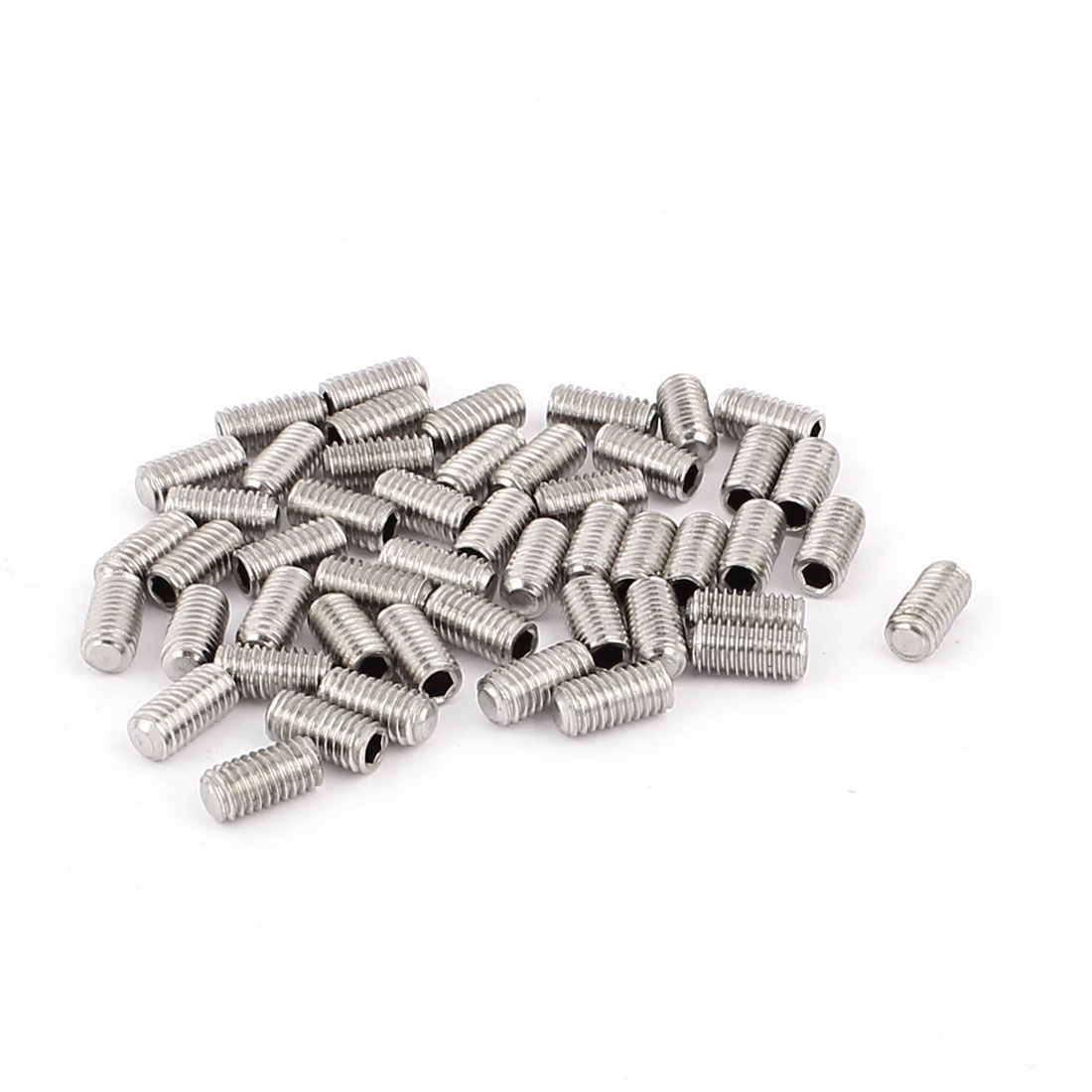 50pcs M5x10mm Hexagon Socket Flat Point Set Screw Grub Screws