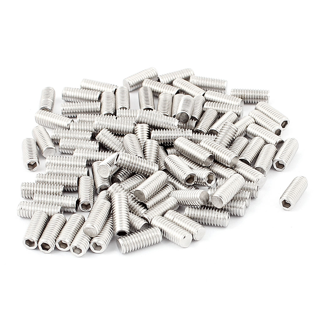 100pcs Stainless Steel M5 Internal Hex Drive Socket Set Grub Screws