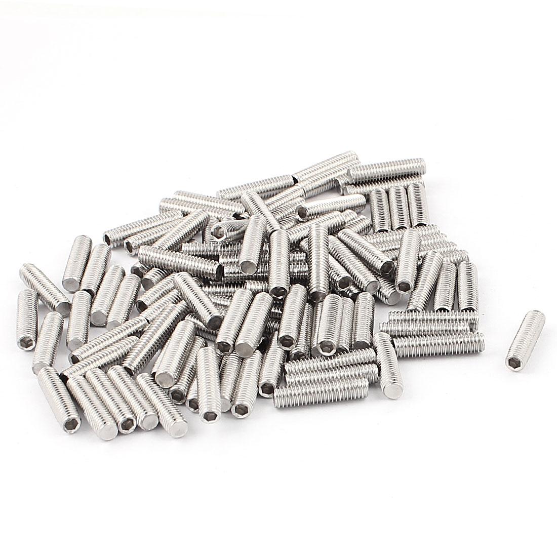 Stainless Steel M5 Thread Hex Socket Grub Set Screws Nut Fittings 100pcs