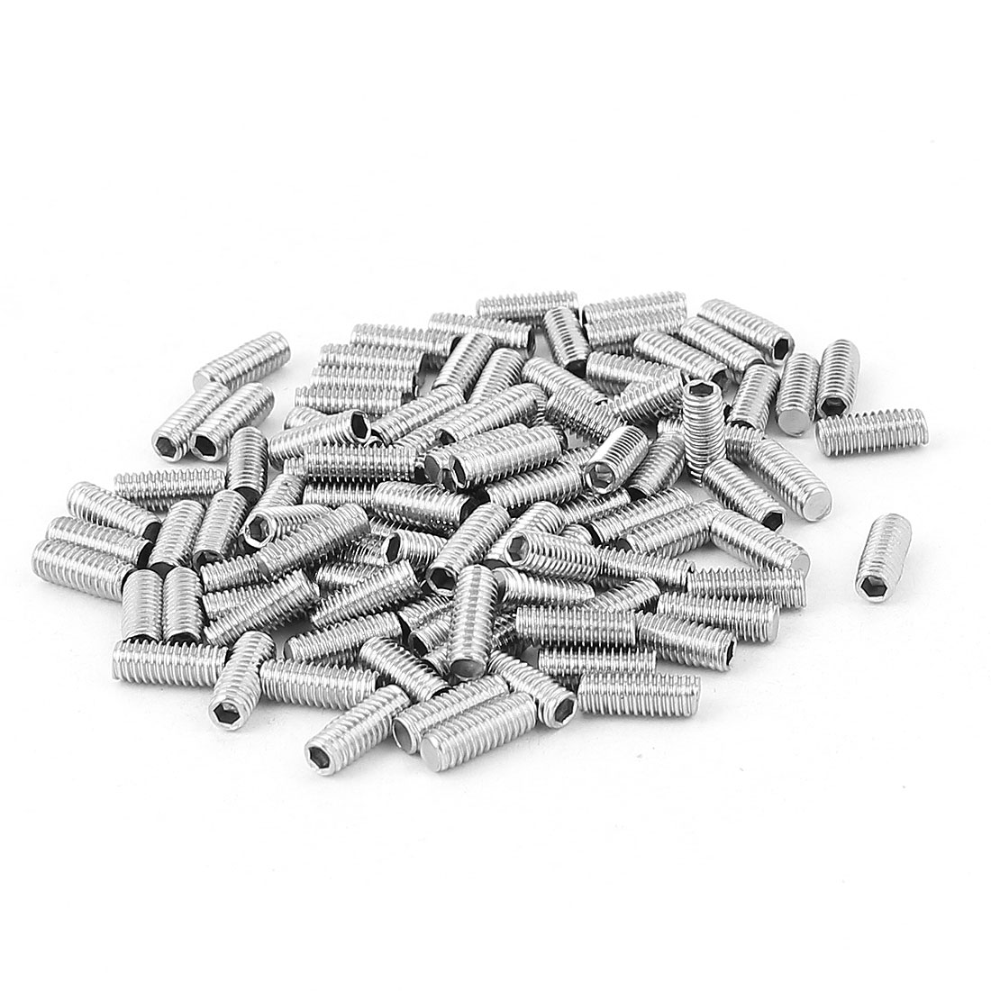 100pcs Stainless Steel M4x10mm Hexagon Socket Set Grub Screws