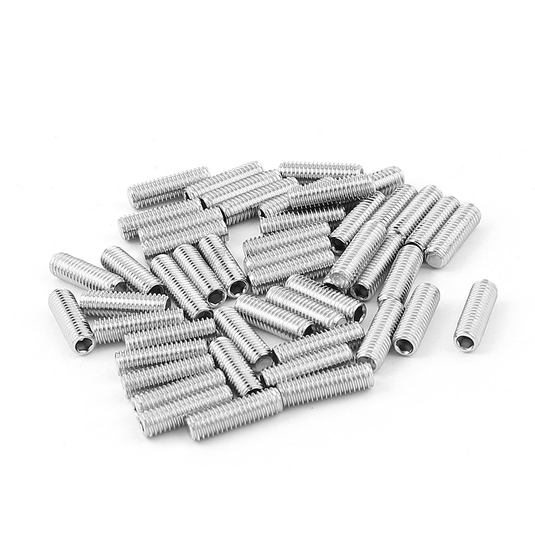 50pcs 304 Stainless Steel M5 5mm Flat Point Hex Socket Grub Screws