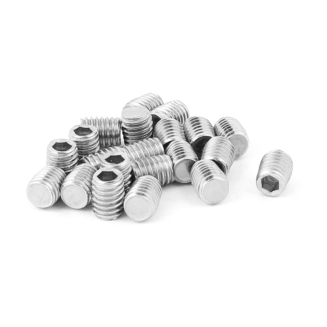 Stainless Steel M8 x 10mm Hex Drive Socket Set Screw Nuts 20pcs