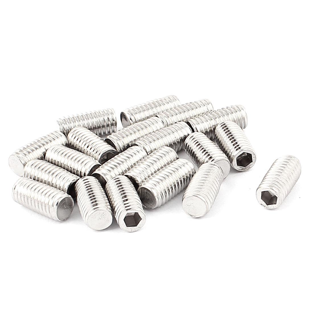 M8x16mm Stainless Steel Hex Socket Grub Screws Fastener Nuts 20pcs
