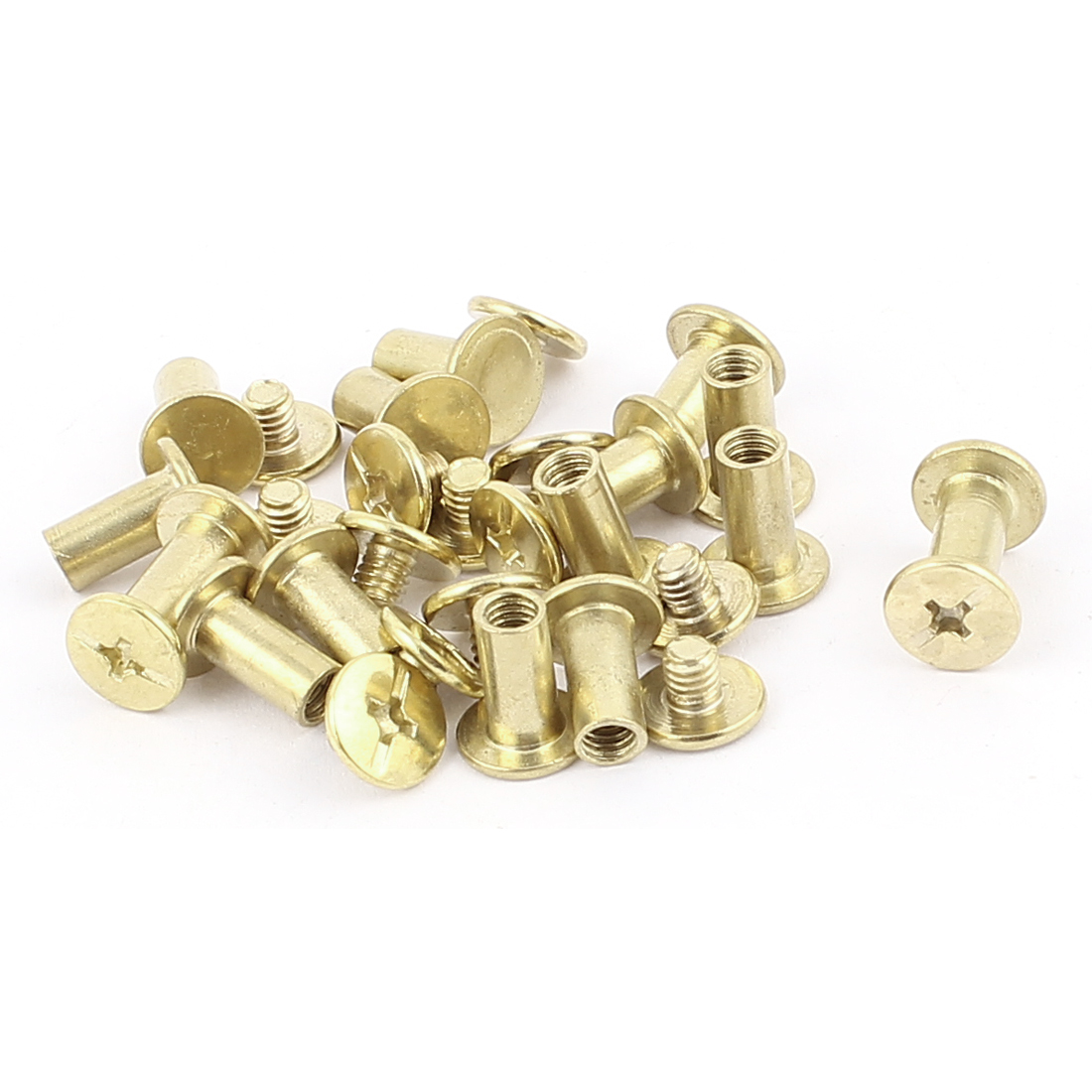 15pcs 5mmx10mm Brass Plated Binding Chicago Screw Post for Albums Scrapbook