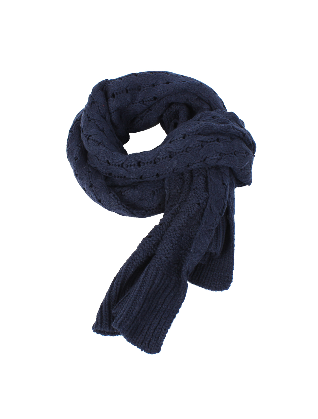 Winter Soft Warm Acrylic Casual Knitted Wide Stretchy Scarf Neckerchief