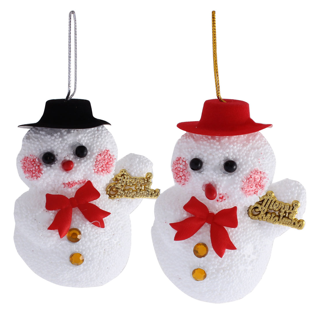 House Christmas Decor White Foam Handicraft Hat Snowman Pendant Decoration