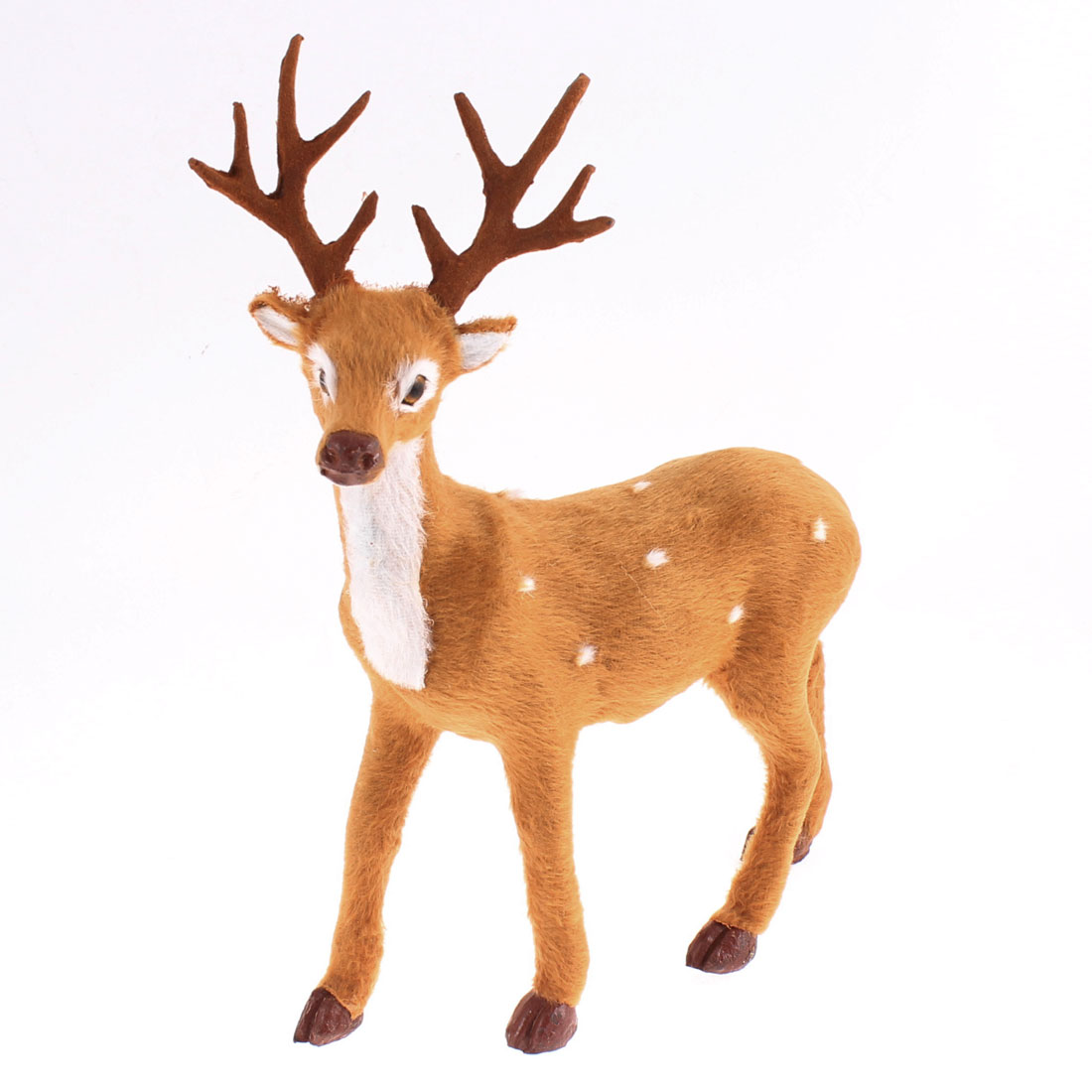 Christmas Xmas Home Office Ornament Simulated Brown Plush Coated Reindeer Deer