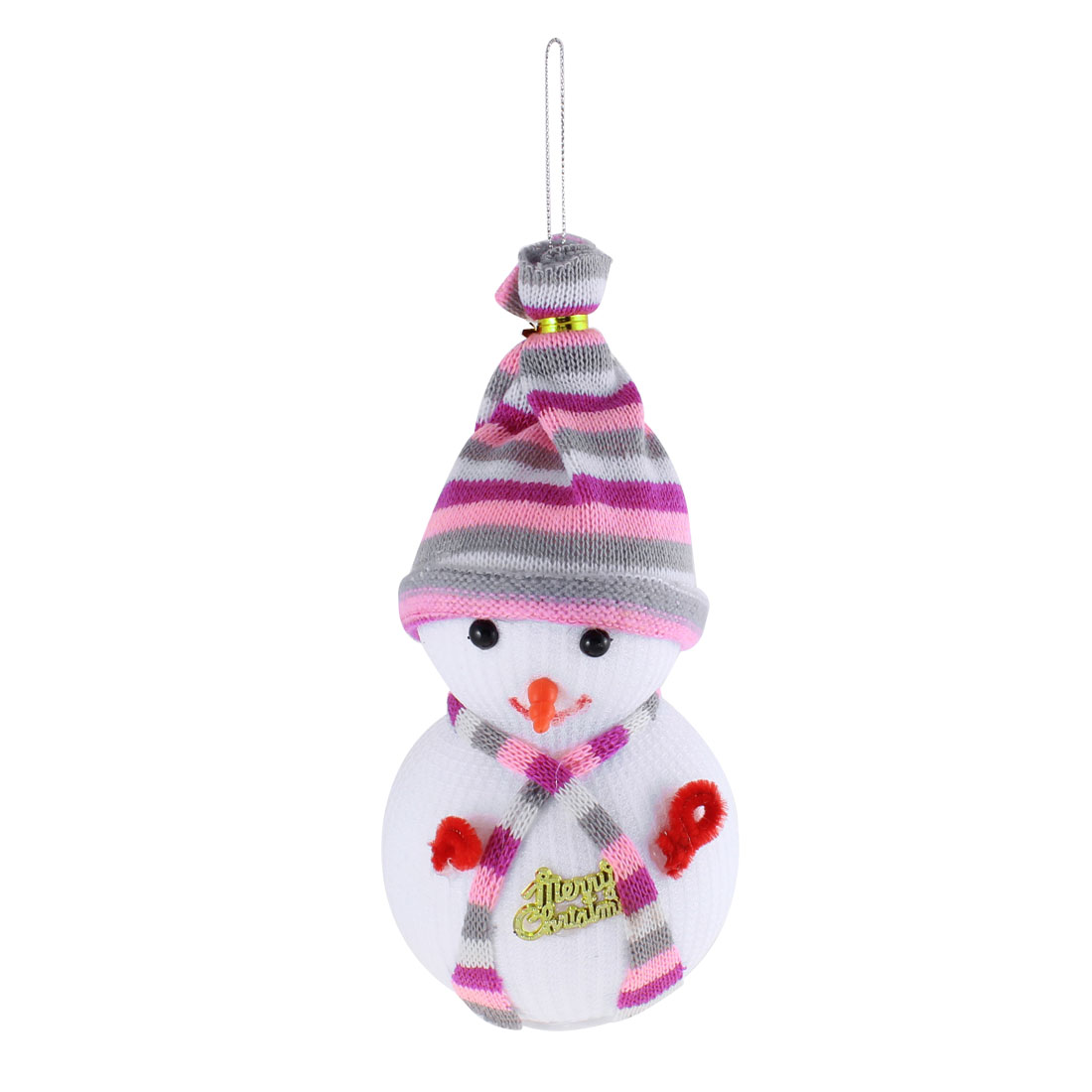 Snowman Shape Christmas Toy Doll Gift White for Christmas Tree Dangling Decor