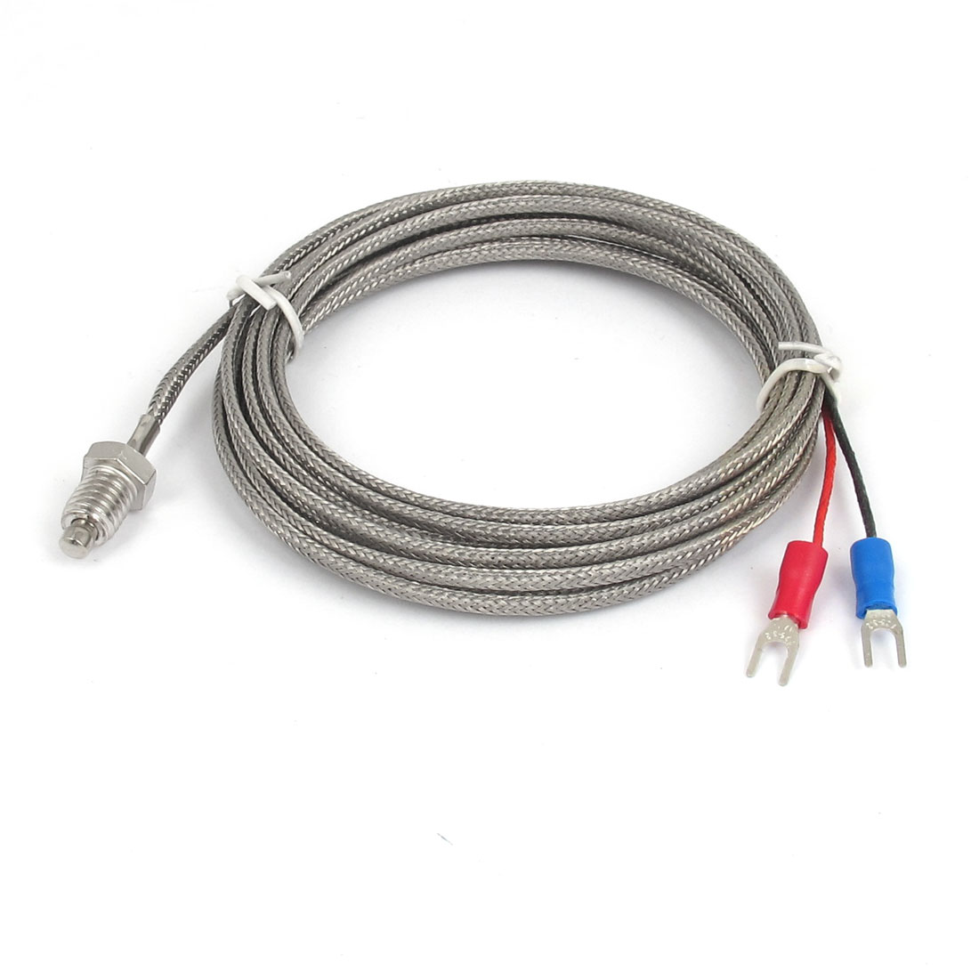 3Meter 10Ft Cable K Type 8mm Thread Metal Braided Shield 0-600C Sensor Thermocouple