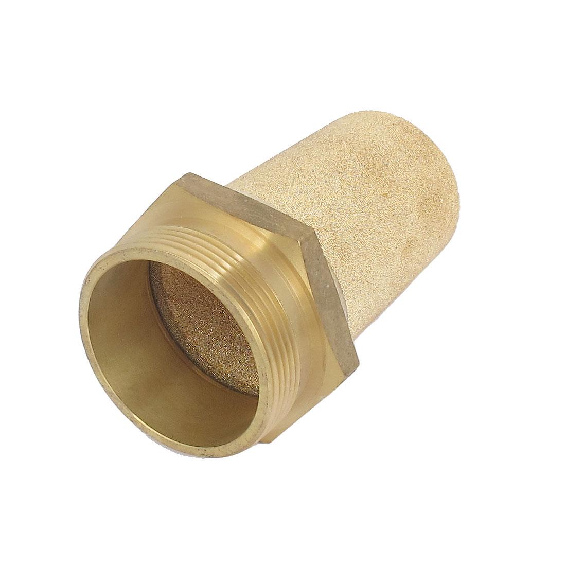 2BSP Thread Brass Pneumatic Flow Control Air Exhaust Noise Filter Silencer Muffler